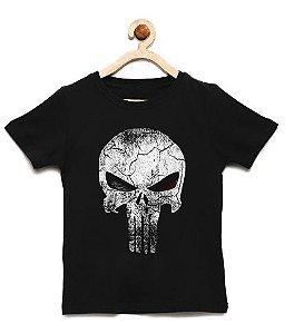 Camiseta Infantil Justiceiro - Loja Nerd e Geek - Presentes Criativos