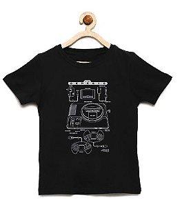 Camiseta Infantil Mega Drive - Loja Nerd e Geek - Presentes Criativos