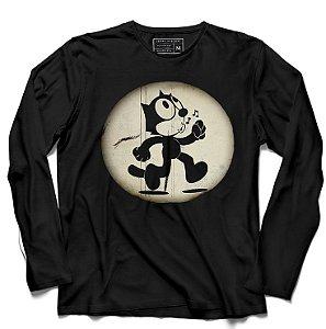 Camiseta Manga Longa Cat - Loja Nerd e Geek - Presentes Criativos