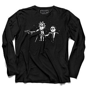 Camiseta Manga Longa Rick Fiction - Loja Nerd e Geek - Presentes Criativos