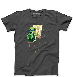 Camiseta Masculina Leonardo - Loja Nerd e Geek - Presentes Criativos