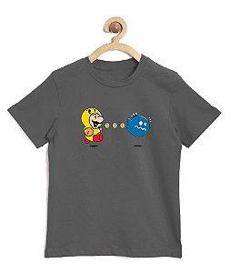 Camiseta Infantil Pac Bros - Loja Nerd e Geek - Presentes Criativos
