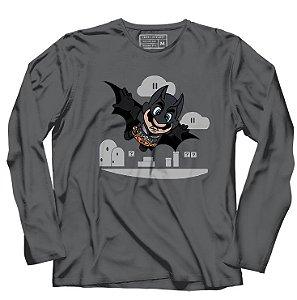Camiseta Manga Longa Bat Morcego - Loja Nerd e Geek - Presentes Criativos