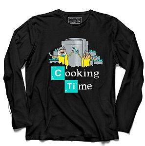 Camiseta Manga Longa Time - Loja Nerd e Geek - Presentes Criativos