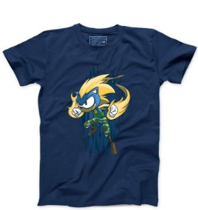 Camiseta Masculina  Hedgehog - Loja Nerd e Geek - Presentes Criativos
