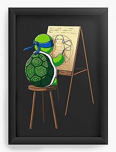 Quadro Decorativo A4 (33X24) Leonardo - Loja Nerd e Geek - Presentes Criativos