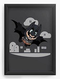 Quadro Decorativo A4 (33X24) Bat Morcego - Loja Nerd e Geek - Presentes Criativos