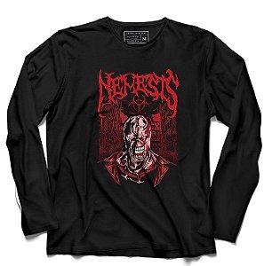 Camiseta Manga Longa Nemesis - Loja Nerd e Geek - Presentes Criativos