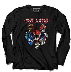 Camiseta Manga Longa Power Rangers - Loja Nerd e Geek - Presentes Criativos