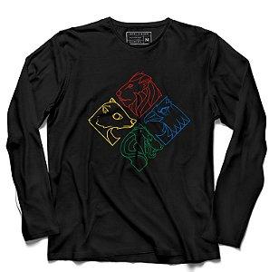 Camiseta Manga Longa Symbols - Loja Nerd e Geek - Presentes Criativos