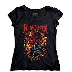 Camiseta Feminina Dark Souls - Loja Nerd e Geek - Presentes Criativos