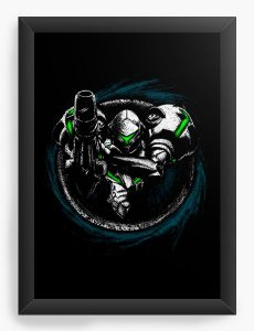 Quadro Decorativo A4 (33X24) Metroid - Loja Nerd e Geek - Presentes Criativos