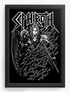 Quadro Decorativo A4 (33X24)  Sephiroth Final Fantasy- Loja Nerd e Geek - Presentes Criativos