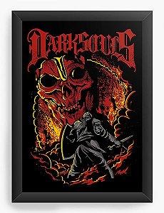 Quadro Decorativo A4 (33X24) Dark Souls - Loja Nerd e Geek - Presentes Criativos