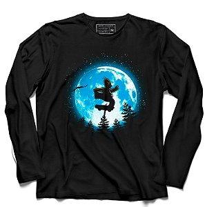 Camiseta Manga Longa Moon - Loja Nerd e Geek - Presentes Criativos