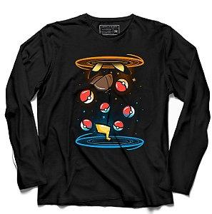 Camiseta Manga Longa Ball - Loja Nerd e Geek - Presentes Criativos