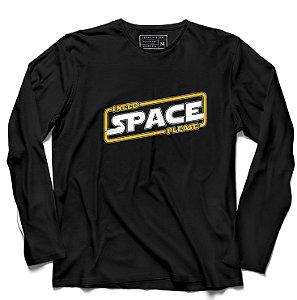 Camiseta Manga Longa Space - Loja Nerd e Geek - Presentes Criativos