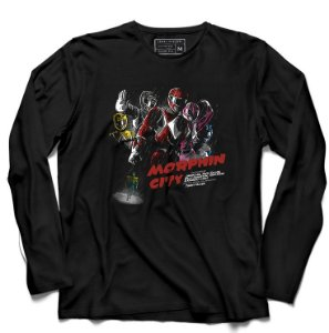Camiseta Manga Power Rangers - Loja Nerd e Geek - Presentes Criativos