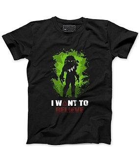 Camiseta Masculina Predador - Loja Nerd e Geek - Presentes Criativos