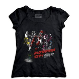 Camiseta Feminina Power Rangers - Loja Nerd e Geek - Presentes Criativos