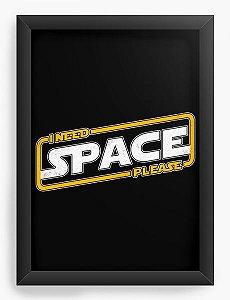 Quadro Decorativo A4 (33X24) Space - Loja Nerd e Geek - Presentes Criativos