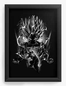 Quadro Decorativo A4 (33X24) Super Dragon Z - Loja Nerd e Geek - Presentes Criativos