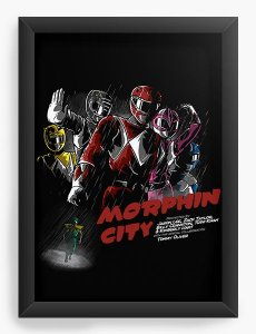 Quadro Decorativo A4 (33X24) Power Rangers - Loja Nerd e Geek - Presentes Criativos