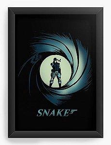 Quadro Decorativo A4 (33X24) Snake - Loja Nerd e Geek - Presentes Criativos