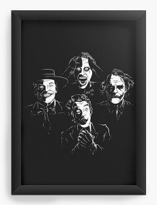 Quadro Decorativo A4 (33X24) Faces - Loja Nerd e Geek - Presentes Criativos