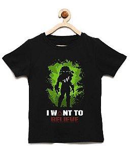 Camiseta Infantil Predador - Loja Nerd e Geek - Presentes Criativos