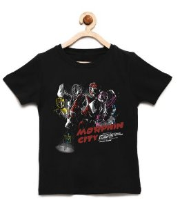 Camiseta Infantil Power Rangers - Loja Nerd e Geek - Presentes Criativos