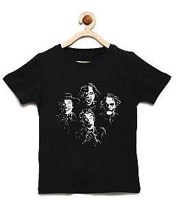 Camiseta Infantil Faces - Loja Nerd e Geek - Presentes Criativos