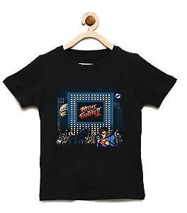 Camiseta Infantil Street Heroes - Loja Nerd e Geek - Presentes Criativos