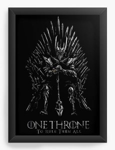 Quadro Decorativo A4 (33X24) Throne - Loja Nerd e Geek - Presentes Criativos