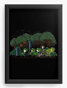 Quadro Decorativo A4 (33X24) Dinossauros - Loja Nerd e Geek - Presentes Criativos