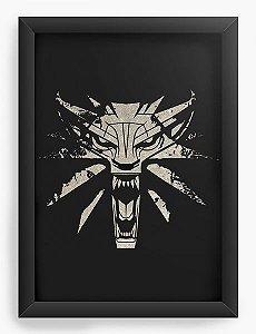 Quadro Decorativo A4 (33X24) Witcher - Loja Nerd e Geek - Presentes Criativos