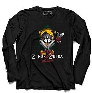 Camiseta Manga Longa Z - Loja Nerd e Geek - Presentes Criativos