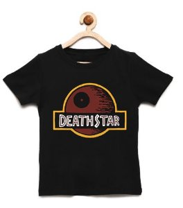 Camiseta Infantil Death Star - Loja Nerd e Geek - Presentes Criativos
