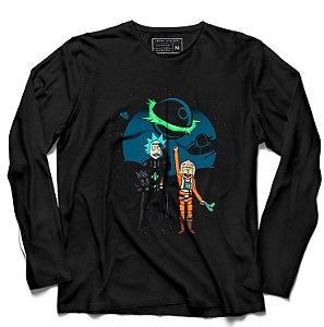 Camiseta Manga Longa Space Rick and Morty - Loja Nerd e Geek - Presentes Criativos