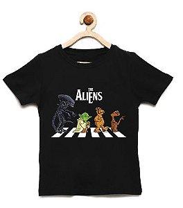 Camiseta Infantil Aliens - Loja Nerd e Geek - Presentes Criativos