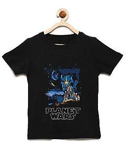 Camiseta Infantil Capitao Planeta - Loja Nerd e Geek - Presentes Criativos