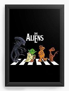 Quadro Decorativo A4 (33X24) Aliens- Loja Nerd e Geek - Presentes Criativos