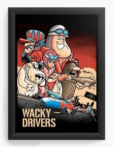Quadro Decorativo A4 (33X24) Drivers - Loja Nerd e Geek - Presentes Criativos