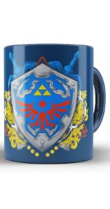 Caneca Escudo De Link - Zelda