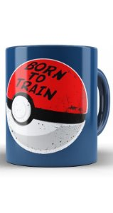 Caneca Pokemon Pokeball Born to Train