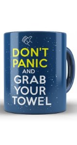 Caneca Don't Panic and Grab Your Towel