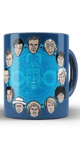Caneca Doctor Who 12 Doctors