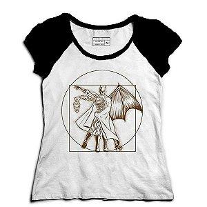 Camiseta Feminina Raglan Morcego - Loja Nerd e Geek