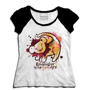 Camiseta Feminina Raglan Baby King - Loja Nerd e Geek