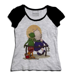 Camiseta Feminina Raglan Mescla Babies Friends - Loja Nerd e Geek